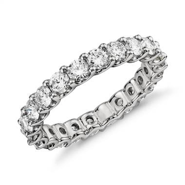 Luna diamond eternity ring set in platinum at Blue Nile