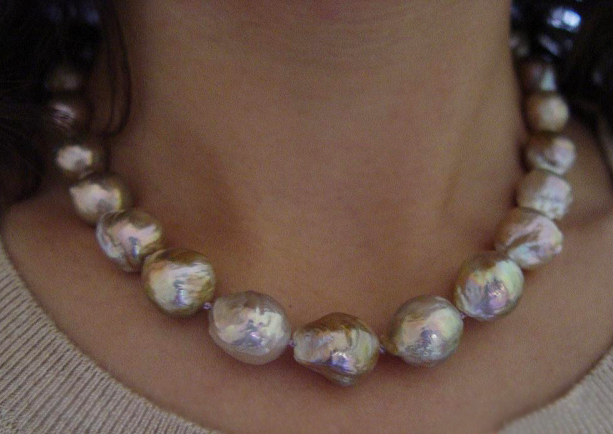 Baroque Metallic Freshwater Pearl Necklace