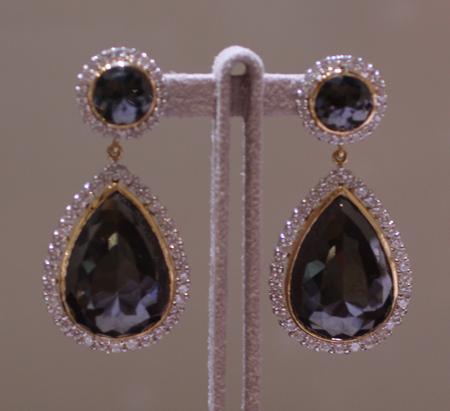 bavna black diamond earrings Couture 2011