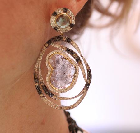 bavna diamond slice earrings Couture 2011