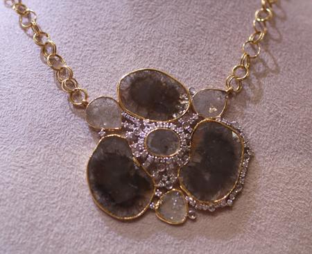 bavna diamond slice necklace Couture 2011