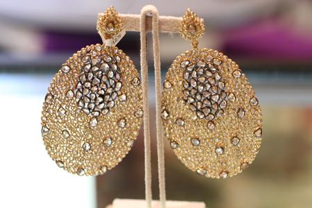 bavna rose cut diamond earrings Couture 2011