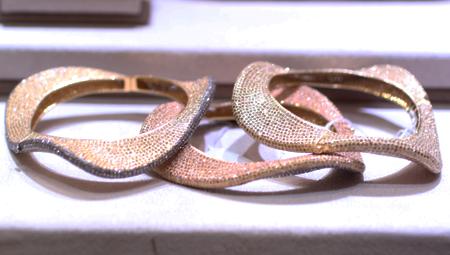 bavna wave diamond bangle bracelets Couture 2011