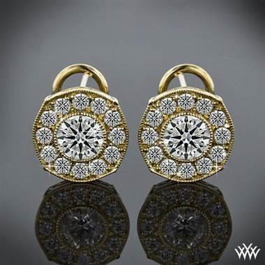 "18k Yellow Gold ""Bella"" Diamond Earrings at Whiteflash"