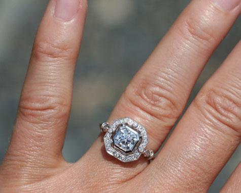 Beverley K halo diamond ring