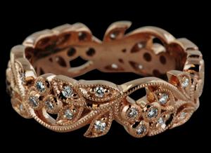 Beverly K Rose Gold Diamond Eternity Ring