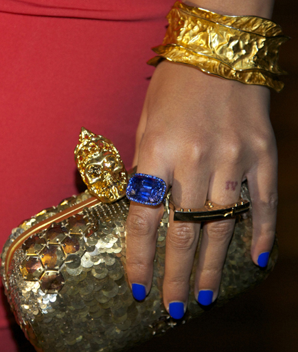 Beyoncé's blue sapphire ring for Blue Ivy