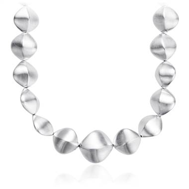 Twisted pebble necklace in sterling silver at Blue Nile