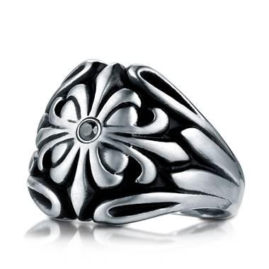 Cobaltchrome fancy black diamond ring at B2C Jewels