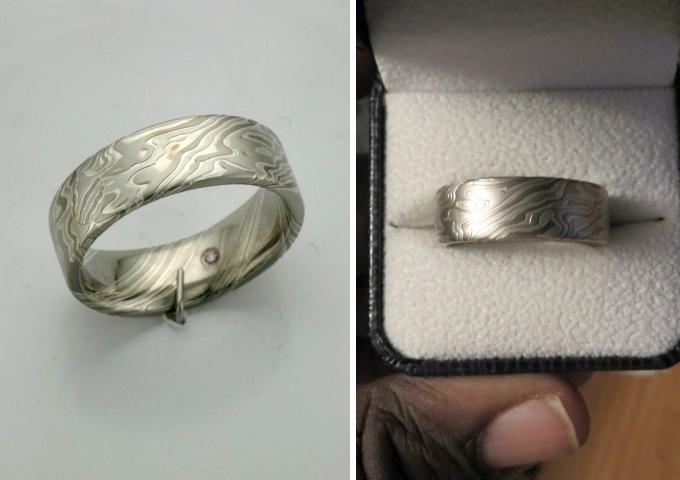 Custom mokume gane ring shared by blackprophet