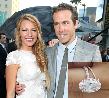 Blake Lively and Ryan Reynolds, Engagement Ring