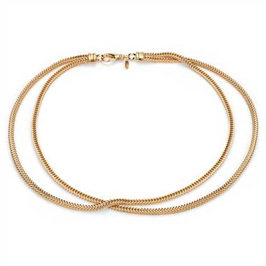 Two row foxtail necklace in yellow gold vermeil at Blue Nile