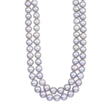 Double strand freshwater pearl necklace at B2C Jewels