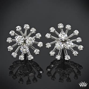 White gold star cluster diamond earrings at Whiteflash