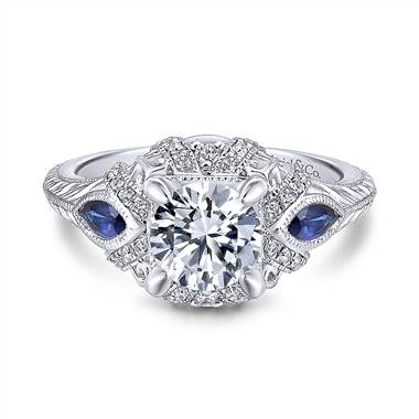 Diamond and sapphire ring at Gabriel & Co