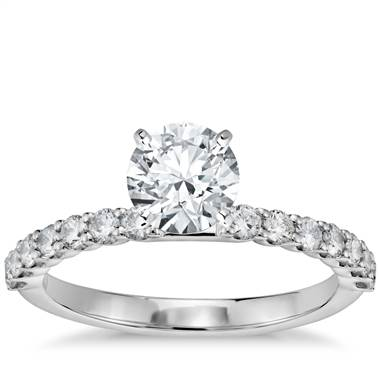 Petite diamond luna engagement ring at Blue Nile