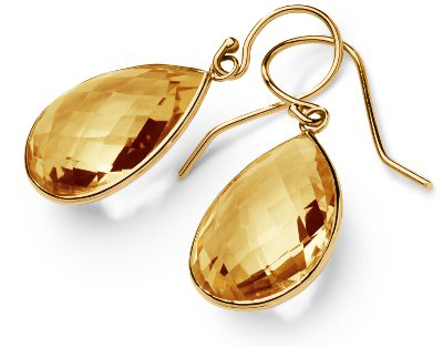 blue nile citrine drop earrings