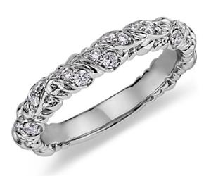 Blue Nile eiros™ Vine Diamond Wedding Ring