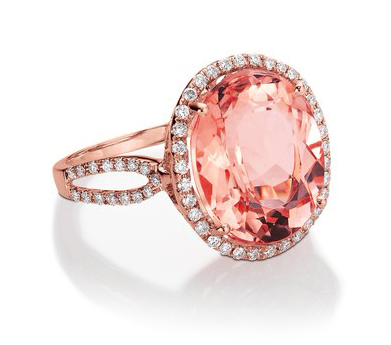 Morganite and diamond ring from Blue Nile