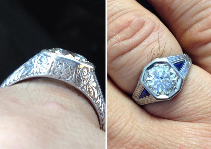 Vintage men's ring restoration shared by bluelotus