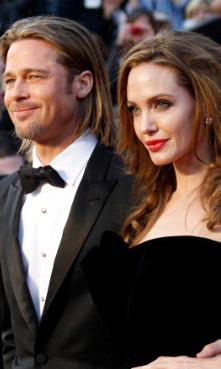 Angelina Jolie and Brad Pitt: celebrity engagements 2012