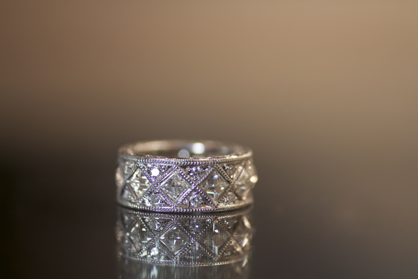 French cut diamond ring