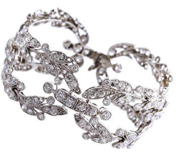 Cartier Paris Rare Garland Wreath Diamond & Platinum Bracelet