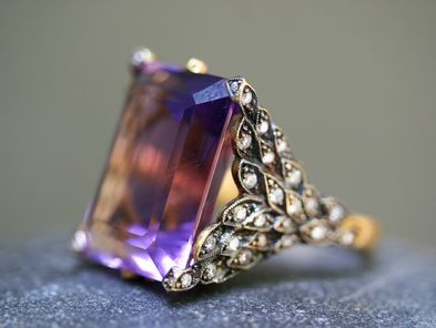 Cathy Waterman Amethyst Winged Creature ring