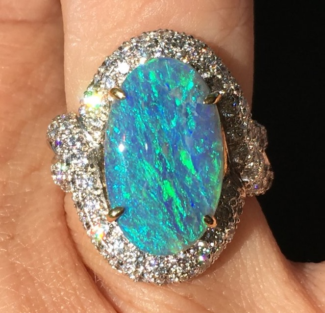 Catmom's Mother's Day/Birthday Opal Ring