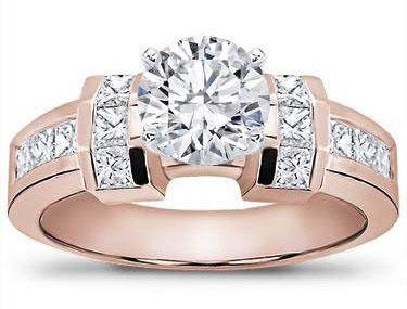 Channel-Set Princess Cut Engagement Setting
