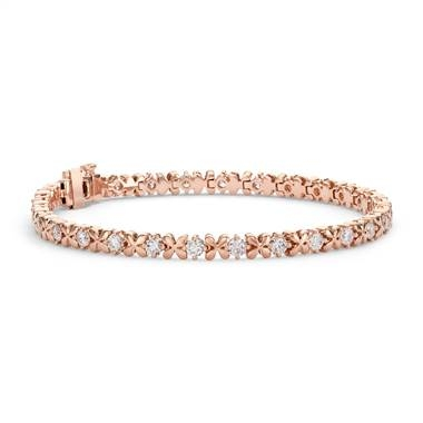 Studio rose petal diamond bracelet set in 18K rose gold at Blue Nile