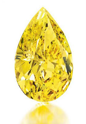 32.77 carat fancy vivid yellow diamond to be auctioned at Christie's