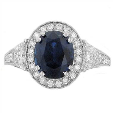 Coast LRK0103-S Unheated Sapphire and Diamond Ring