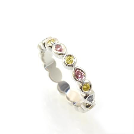 Cokitty Custom Fancy Colored Diamond Ring