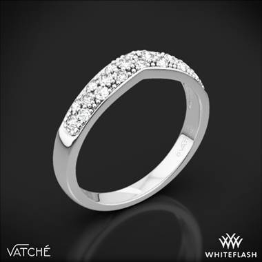 Platinum Vatche 213 contoured pave diamond wedding ring at Whiteflash