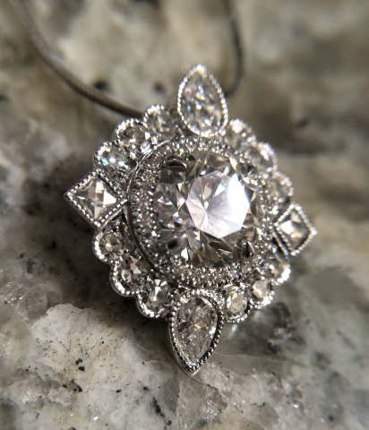 Diamond ring to pendant conversion - image by Elysian