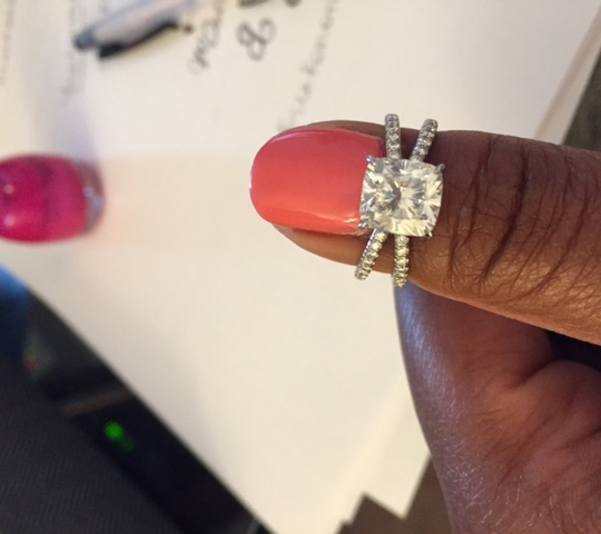 Cushion Diamond Engagement Ring - image by TexanInWisconsin