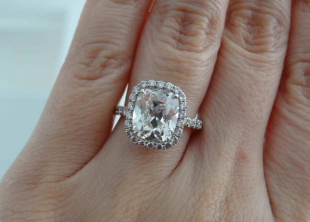 Jewel of the Week KristyDarlings Cushion Halo Diamond Ring