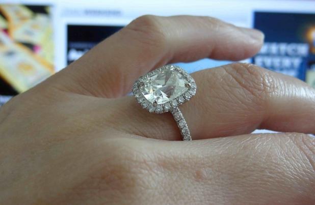 Cushion Halo Diamond Ring