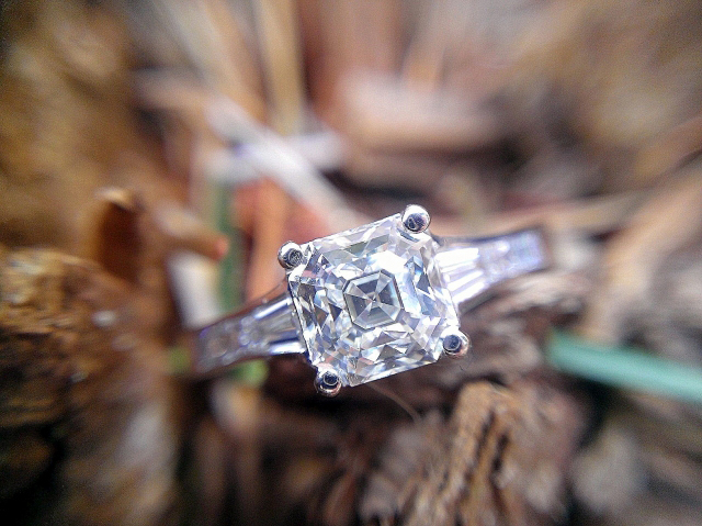 Jeff Cooper engagement ring with Octavia asscher diamond