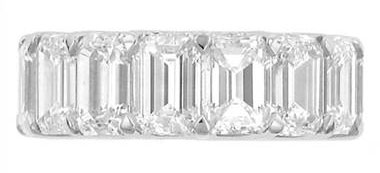"Danhov Y117-SPECIAL ""Eternita"" Emerald Cut Diamond Eternity Band"