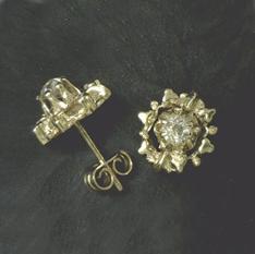Old-cut diamond earrings from Dave Atlas