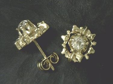 Old-cut diamond studs from David Atlas