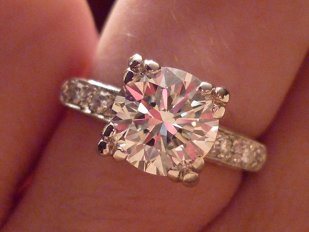 Jewel Of The Week Romantic Diamond Engagement Ring And