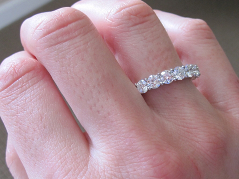 eternity bridal ct bands ring diamond set il half solitaire band listing round