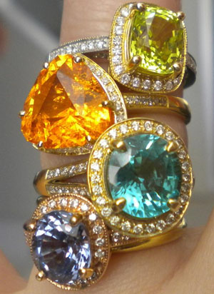 colored stone diamond cocktail rings