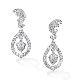 Catherine Duchess of Cambridge - Kate Middleton Wedding Earrings Oak Leaf Acorn