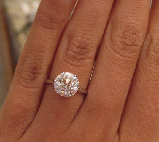Solitaire diamond engagement ring (before) shared by star sparkle