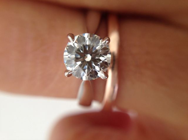 Diamond solitaire engagement ring shared by hathalove