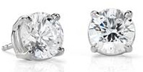Diamond Stud Earrings in Platinum (4 ct. tw.)